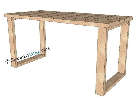 X Leg Desk plans and tutorial from @Sawdust Girl.