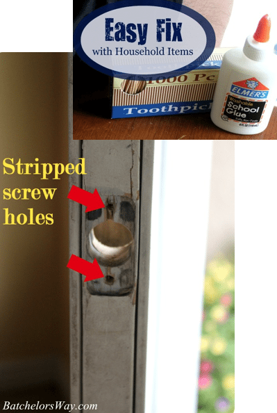 fix stripped screw holes with household items