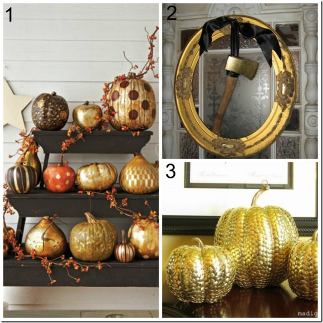 Decor trends for halloween_metallics.