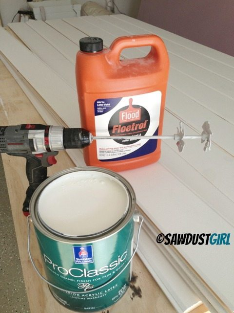 Use a Paint Mixer to thoroughly mix your paint