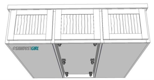 Pullout storage trundle in platform bed