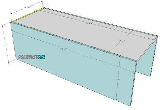center section for queen platform bed frame