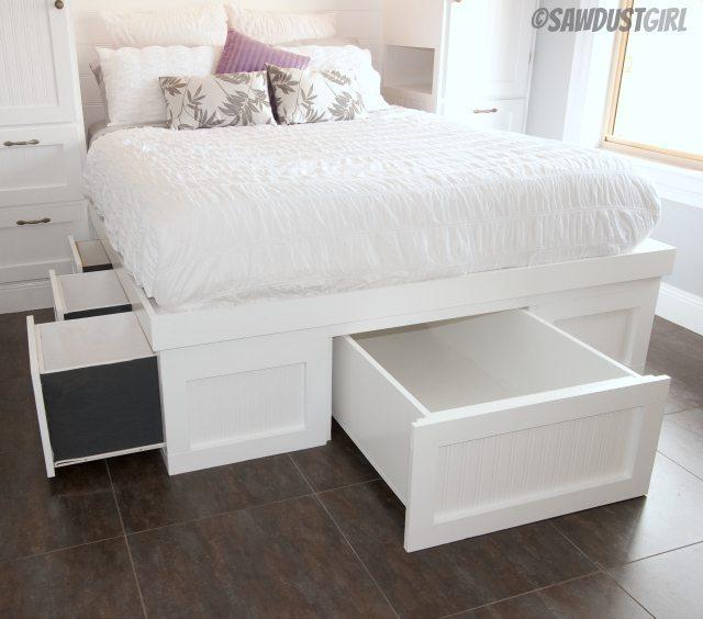 Built In Wardrobes And Platform Storage Bed   Kristyu0027s Reveal