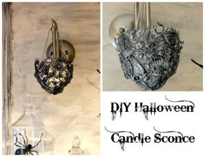 DIY Halloween Candle Sconce 2