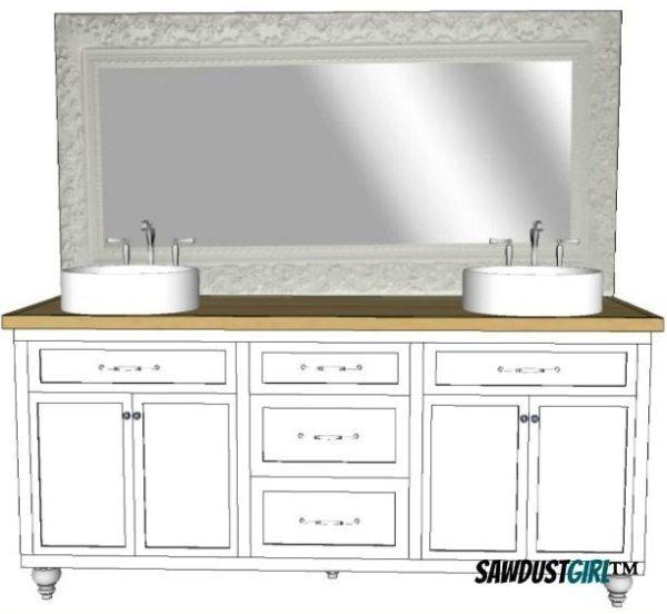 Double vanity plans,