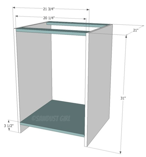 Built-in daybed and bookshelf plans from https://sawdustgirl.com.
