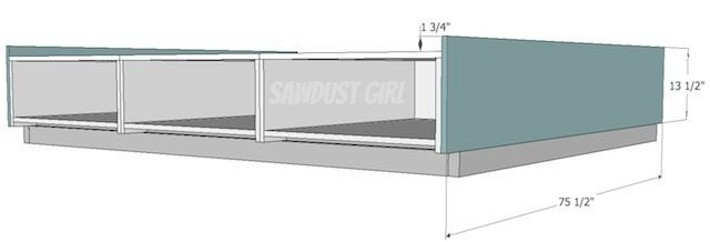 Build a platform bed with drawers - free plans!