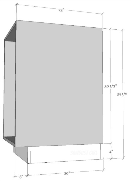 Standard sizing for kitchen cabinets