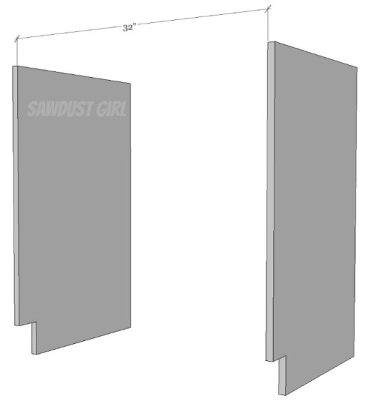 maximum width for cabinets and builtins