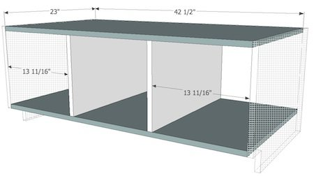 Bench without sides