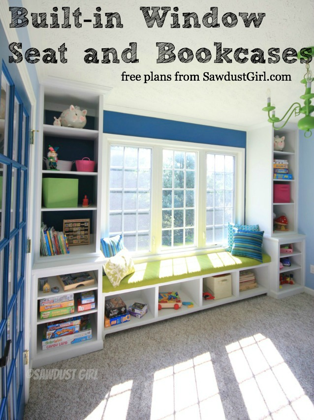 Built In Window Seat And Storage Cabinets Free Plans