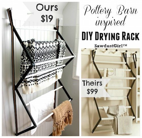 Pottery Barn inspired DIY Drying Rack