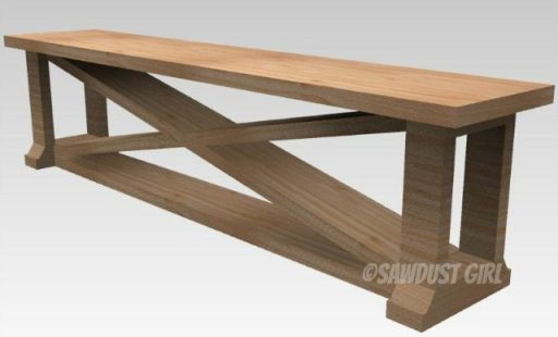 Build a dining bench with these free plans.