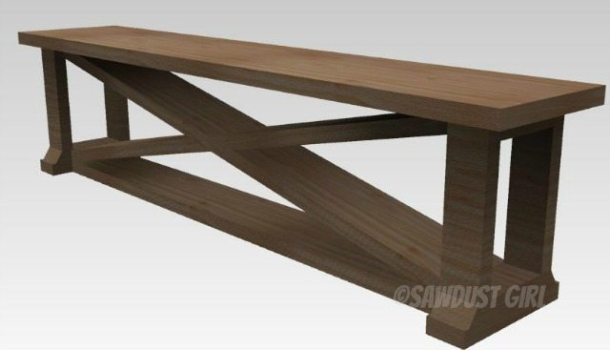 Dining room bench - Free Plans
