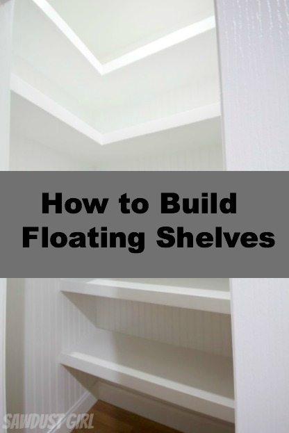 U-Shaped Floating Shelves