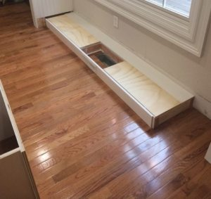 How to install a floor vent in a cabinet base