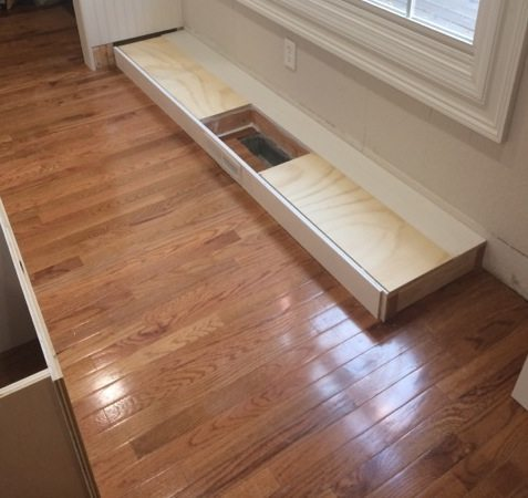 How To Install A Cabinet Base With A Floor Vent Sawdust