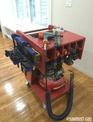 rolling tool and air compressor cart