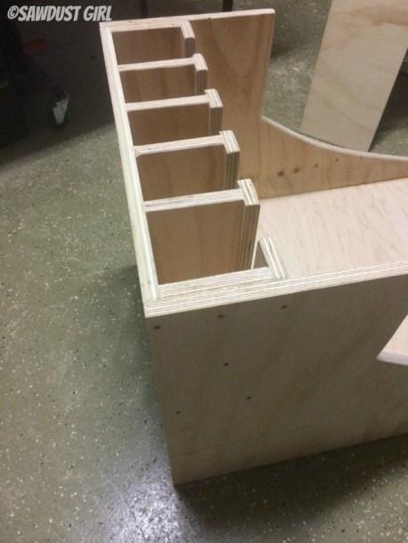 Tool storage for drills and nail guns