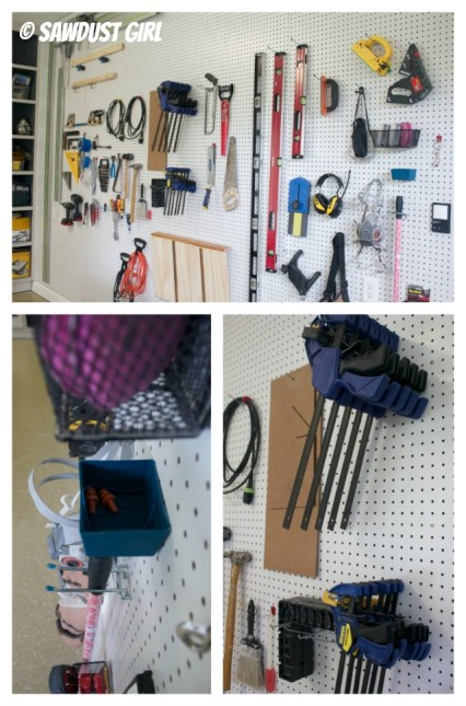Pegboard Wall - Organization for Workshop Tools