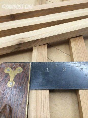 step 2 - cut 1 inch strips