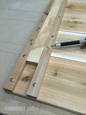 step 4 - add shelf for bin on sides 1 & 4
