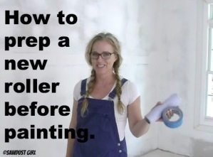 how to prep a new roller before painting