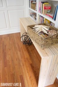 Rustic contemporary console table