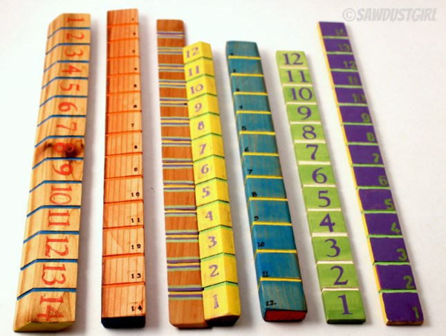 Handcrafted rulers - Super easy and inexpensive gift idea!