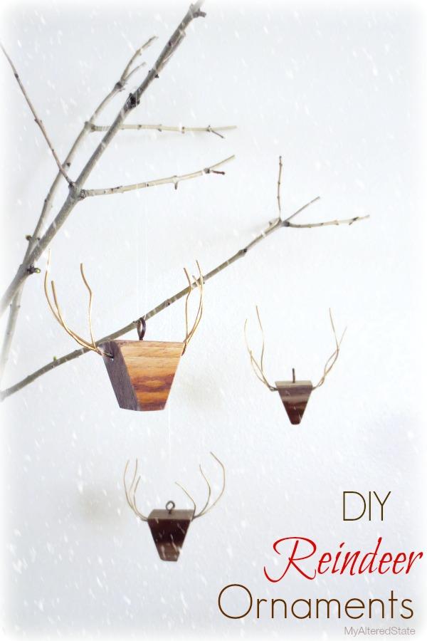 Reindeer Wood Ornaments