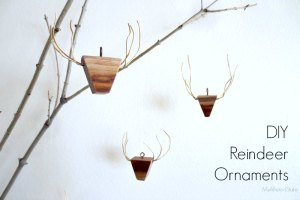 Wooden Reindeer Ornaments
