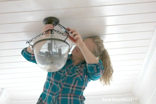 How to change a ceiling light fixture