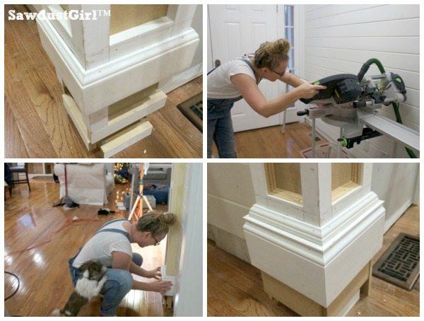 How to build decorative columns in a doorwaymiter corners