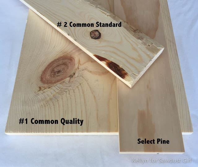 Select the right types of wood for your DIY project