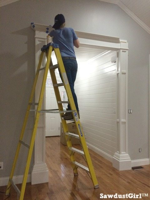 How to build decorative columns in a doorway prime and paint