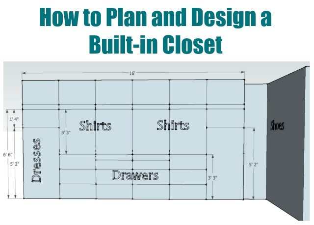 How to plan and design a built in closet sawdust girl - Walk in closet design ideas plans ...