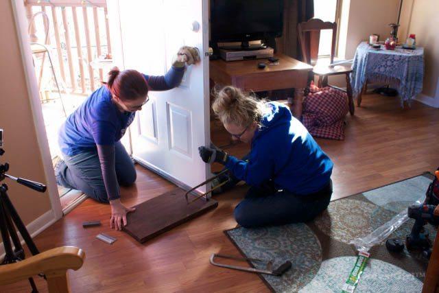 How to install a door sweep.