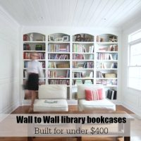 Library wall to wall bookcases - free plans
