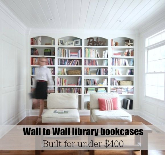 wall to wall bookcases - plans from https://sawdustgirl.com.