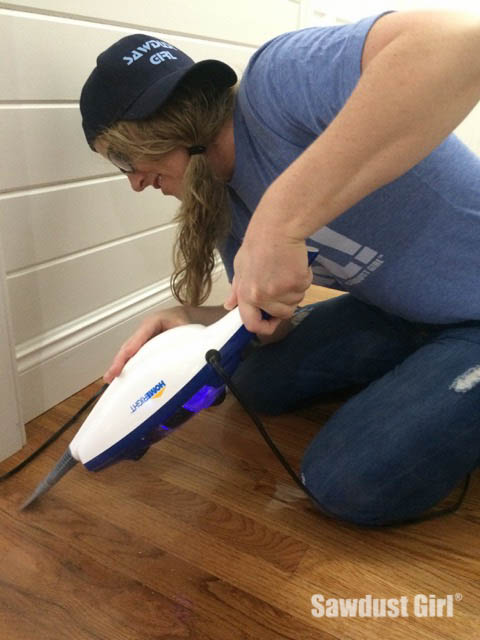 How to get paint off a wood floor -- with steam