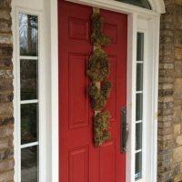 Moss and Burlap LOVE wreath.