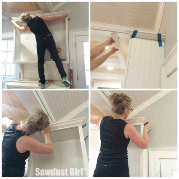 How To Install Crown Moulding On Cabinets And Built Ins