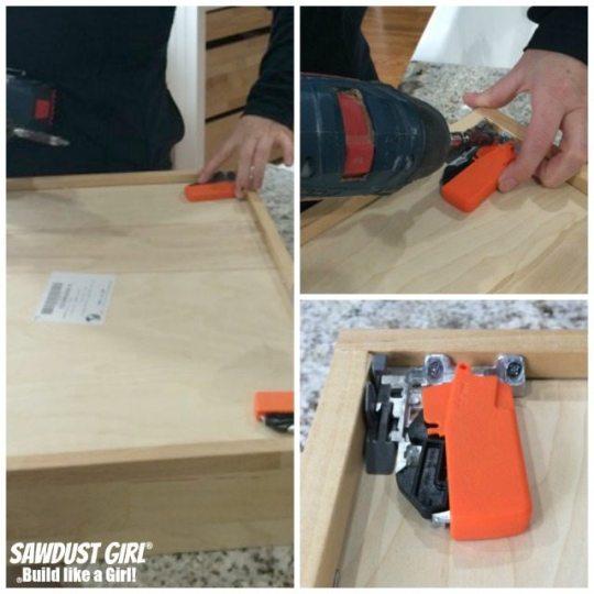 Installing cabinet drawers with Blum Tandem plus Blumotion drawer slides.
