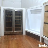 Built-in Beverage and Wine Refrigerator in Pantry