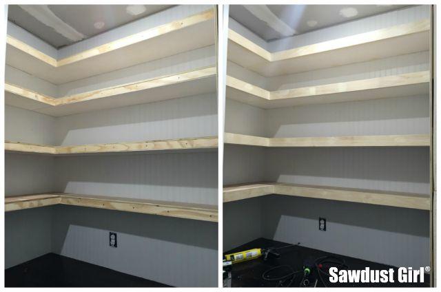 Pantry Floating Shelves Sawdust Girl