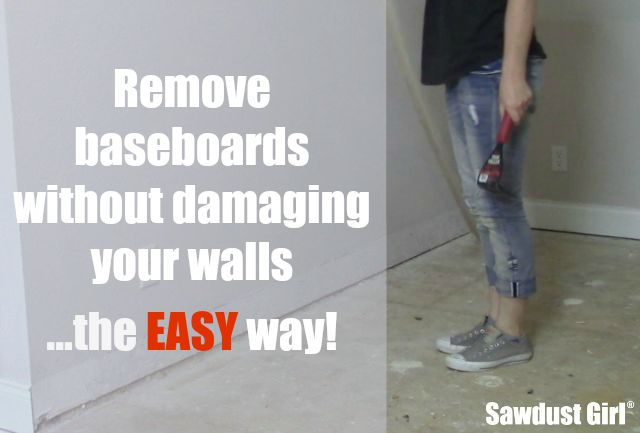 Easily remove baseboards without damaging your walls!