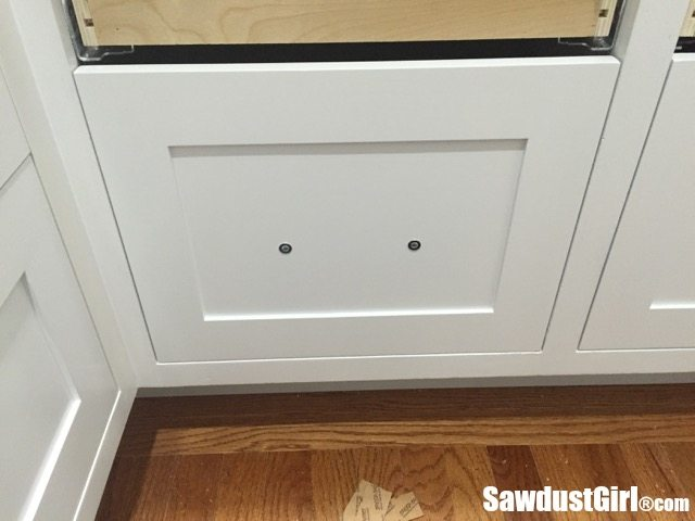 Installing Cabinet Drawer Fronts