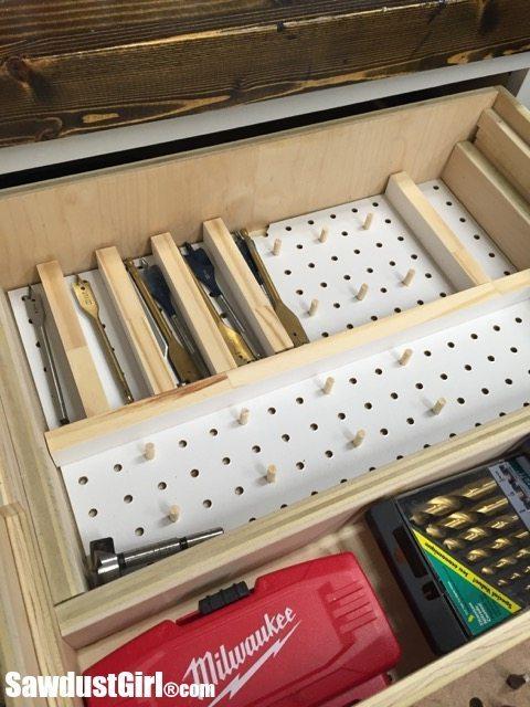 Adjustable dividers for drawer storage.