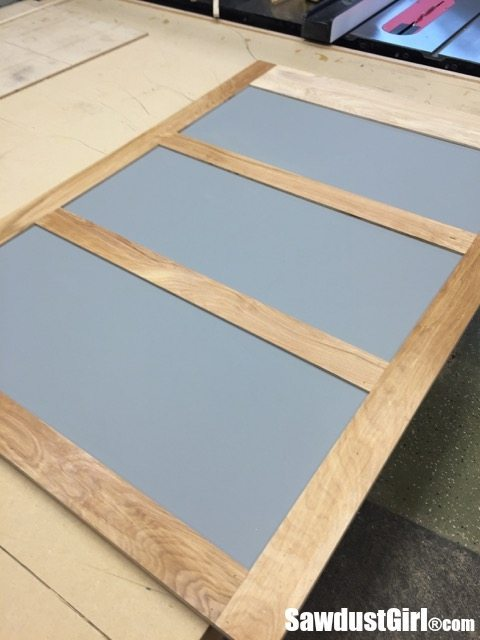 Building sliding cabinet doors for workshop