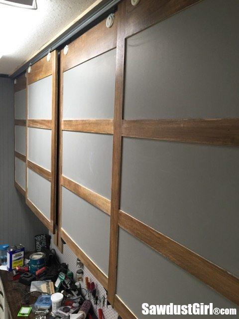 Easy Diy Sliding Doors For Cabinets Sawdust Girl 174
